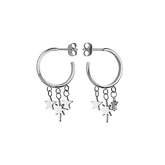 Rosefield MUSES-J216 earrings - THE LOIS Multi-canvas Steel Collection