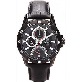 Royal London 41043-01 - watch Sport leather black man