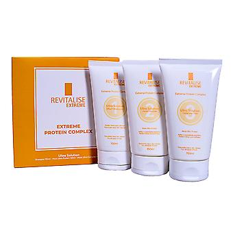 Revitalise Extreme Brazilian Protein Complex Ultra Solution Shampoo Mask Set For