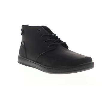 G.H. Bass Atwater Wx B  Mens Black Leather Mid Top Chukkas Boots