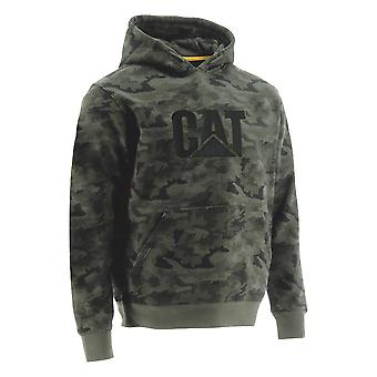 Caterpillar Mens Trademark Hooded Logo Work Sweatshirt