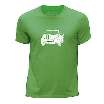 STUFF4 Boy's Round Neck T-Shirt/Stencil Car Art/Clio 197/200/Green