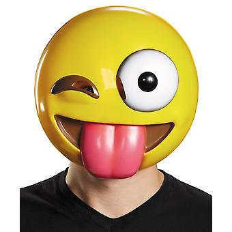 Tongue Out Emoji Mask