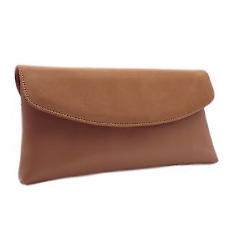 Peter Kaiser Winema Clutch Bag In Biscotti Suede