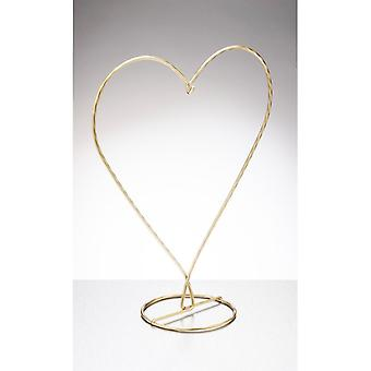 Sienna Glass Heart Shaped Display Stand, Gold