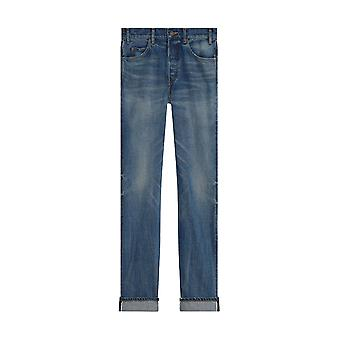 Céline 2n213945f07uw Women's Blue Cotton Jeans