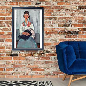 Amedeo Modigliani - Gypsy Woman con el bebé Poster impresión Giclee