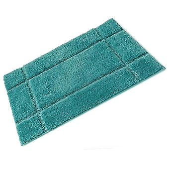 Orla mer caoutchouc plein vert soutenu Microfibre Single baignoire tapis 50 x 80 cm