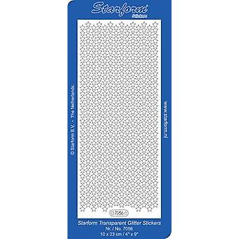 Starform Stickers Christmas Stars 7: Small (10 Sheets) - Tr.Glit./Silver - 7056.252 - 10X2