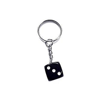 Key ring/Key chain with dice (black)