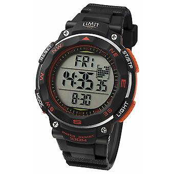 Limit Mens Sport Black Strap Orange Detail 5485.66 Horloge