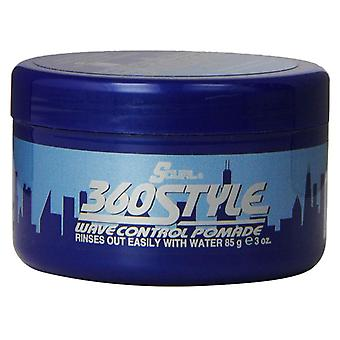 Lusters s-curl 360 style wave control pomade, 3 oz