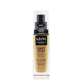 Nyx Can't Stop Won't Stop Full Coverage Foundation - # Caramel - 30ml/1oz