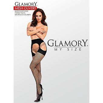 Glamory Mesh Ouvert Fishnet Suspender Tights