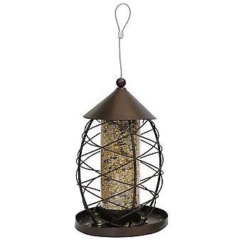 Rosewood Antique Lantern Style Bird Seed Feeder