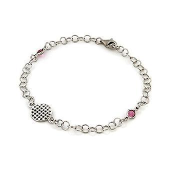 Bijoux pour tous Donna 925 Silver Rose Crystal NECKLACEBRACELETANKLET