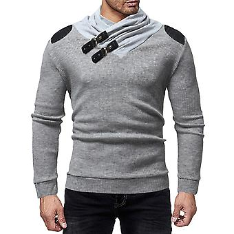 Cloudstyle Men's Sweater Colorblocked Stitched Pullover
