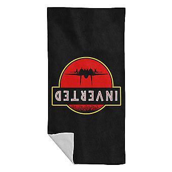 Top Gun Jurassic Park Inverted Beach Towel