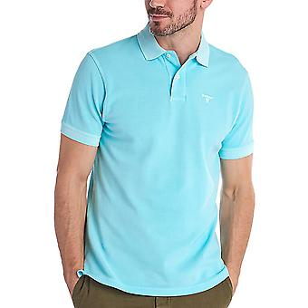 Barbour Men's Washed Sports Polo T-Shirt Tailored Fit Blue