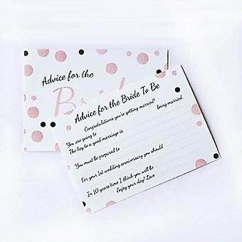 6 x Rose Gold Spotty Design Bride Advice Cards, Hen Party Games