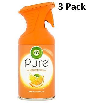 3 X 250Ml Air Wick Pure Air Freshr Spray - Soleil Méditerranéen