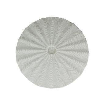 White Sandstone Finish Sea Urchin Shell Wall Sculpture 14.5 Inch Diameter