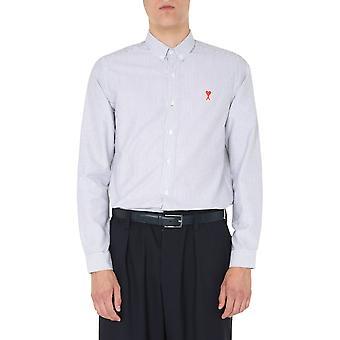 Ami A20hc013401101 Herren's weißes Baumwollhemd