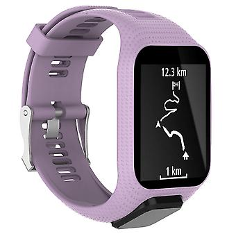 for TomTom Spark Replacement Wristband Bracelet Strap Band Metal Buckle GPS Watch[Purple]