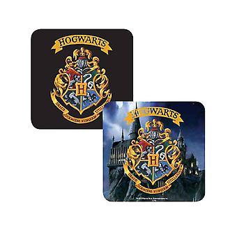 Harry Potter Coaster Lenticular Hogwarts School Crest new Official 10x10cm