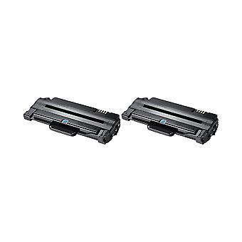 RudyTwos 2 x erstatning for Samsung MLT-D1052L Toner enhet svart kompatibel med ML-1910 ML-1911, ML-1915 ML-2525, ML-2525W, ML-2580N, SCX-4600, SCX-4600FN, SCX-4623F, SCX-4623FN, SCX-4623FW, SF-650,