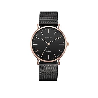 Strand By Obaku S702GXVBMB Hudson-Night Black Mesh Wristwatch