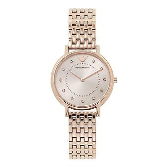 Armani Watches Ar11062 Sunray Dial Rose Gold Stainless Steel Ladies Watch