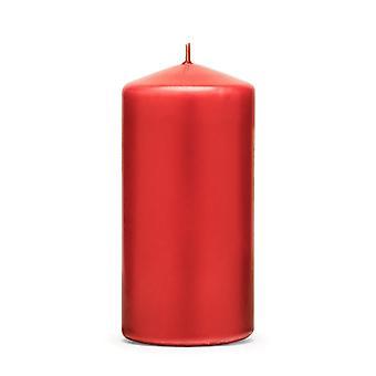 Rode pilaar kaars - 12cm hoog / 6cm breed - 20 uur brandtijd