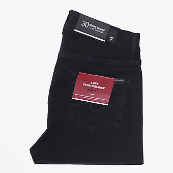 7 For All Mankind  - Slimmy Luxe Tapered Jeans - Black