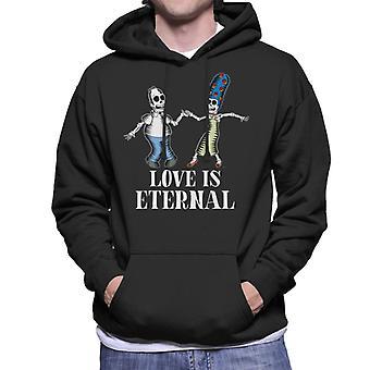 The Simpsons Love Is Eternal Homer & Marge Halloween Men's Hooded Sweatshirt