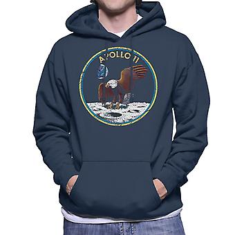 NASA Apollo 11 Mission Abzeichen Distressed Herren Sweatshirt mit Kapuze