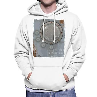 The Crystal Maze Lighter Good Feeling Rust Panel Men's Hooded Sweatshirt