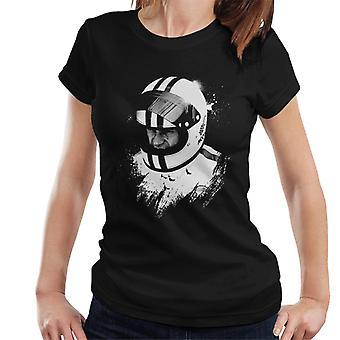 Motorsport Images Steve McQueen Wearing Helmet Portrait Women's T-Shirt