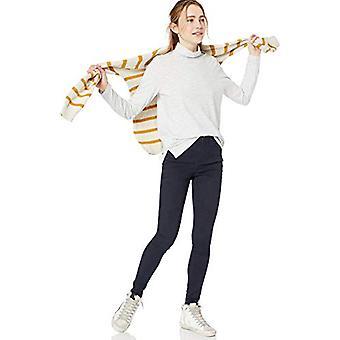 Brand - Goodthreads Women's Vintage Cotton Turtleneck T-Shirt, White Minitripe,Small
