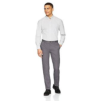Essentials Men's Slim-Fit Rynke-Resistent Flat-Front Chino Pant, Gre ...