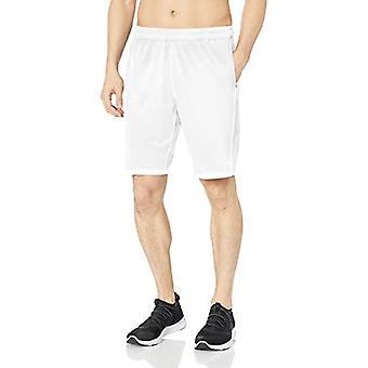 Essentials Men's Tech Stretch Training Short, White, Large