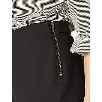 Brand - Lark & Ro Kvinnor & Ro & Ro Kvinnor & S Stretch Side Zip Pant - Kurvig, Svart, 6