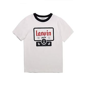 T-shirt Lanvin Kids White & Black Short Sleeve