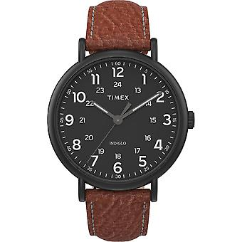 TW2T73500, Timex TW2T73500 Men's Weekender XL 43mm 2 pezzi Brown Leather Strap Orologio