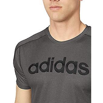 adidas Men's Designed 2 Move Linear Logo Heather, Grey Six/Black, Size XX-Large