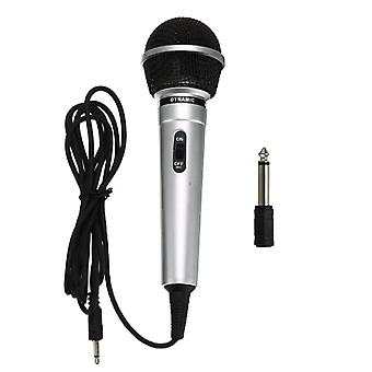 Universal 3.5mm Protable Wired Microphone Public Transmitter Ktv Karaoke Recording
