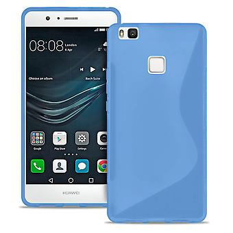 S-Line Slim Cover voor Huawei P10 Light Patterned TPU Ultra Thin Common Colors Blauw