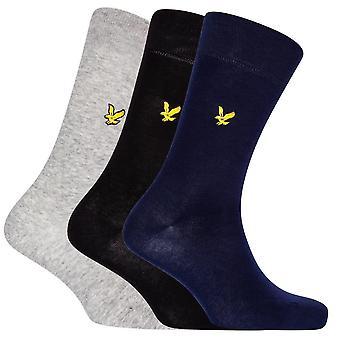 Lyle et Scott Angus 3 Pack Basic Socks - Noir/Marine/Gris