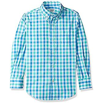 / J. Crew Brand- LOOK by Crewcuts Boys' Long Sleeve Gingham Shirt, Blue...