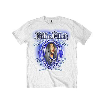 Billie Eilish Kids T Shirt Airbrush Photo logo Official White (Ages 5-14 yrs)